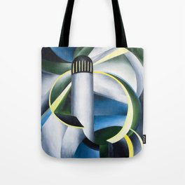 Variation on a Lighthouse landscape painting by Ida O'Keeffe Tote Bag