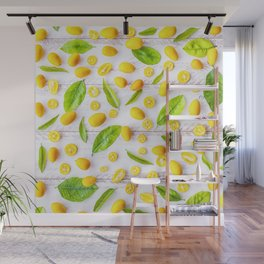 Fruits and leaves pattern (22) Wall Mural