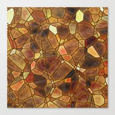 Stained Glass - Copper Canvas Print