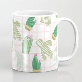 Pastel pink florest green geometrical cactus floral Coffee Mug