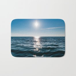 Sea Blue Sky sun Bath Mat