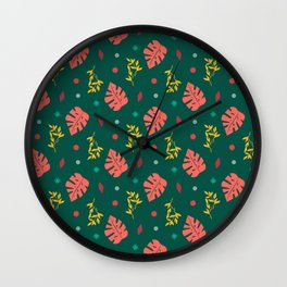 Ma-Ma Monstera: Aunt Antique Wall Clock