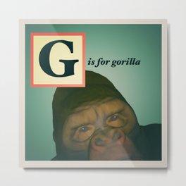 Animal Alphabet G Metal Print
