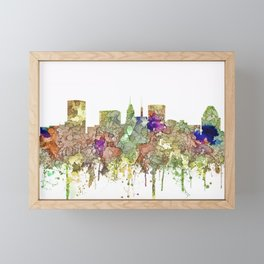 Baltimore, Maryland Skyline SG - Faded Glory Framed Mini Art Print