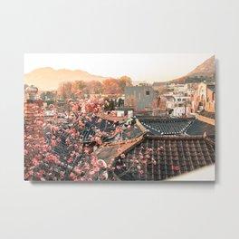 Seoul Rooftops - Bukchon Hanok Village, Korea Metal Print