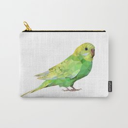 Geometric green parakeet Carry-All Pouch