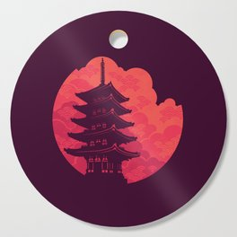 Pagoda Sunset Cutting Board