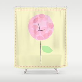 Flower L Shower Curtain