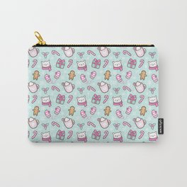 Cute Christmas // Green Carry-All Pouch