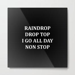 Raindrop Drop Top, Kid's TShirt, Migoss, Bad and Boujee, Hip Hop, Rap Lyrics, Funny, Metal Print