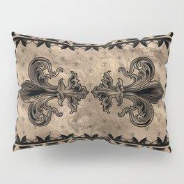 Fleur-de-lis - Black and Gold Pillow Sham