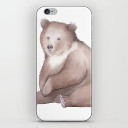Bear Watercolor iPhone Skin