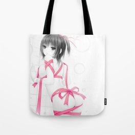 Aoyama Sumika Pink Ribbon Tote Bag