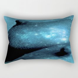 Teal Galaxy Breasts / Galaxy Boobs Rectangular Pillow
