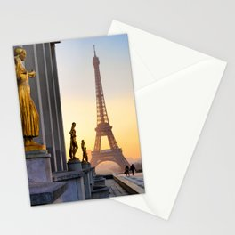 Sunrise in Paris France Stationery Cards