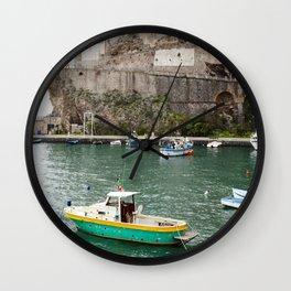 Afloat in Amalfi Wall Clock