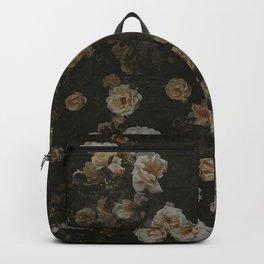 Midnight Dark Floral Grunge Backpack