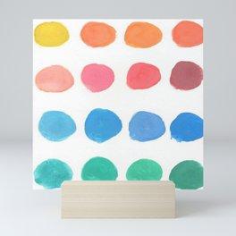 Designer Paint Sample Dots Mini Art Print