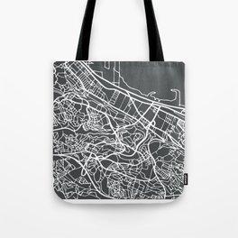 Algiers Algeria Map in Retro Style. Tote Bag