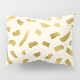 Gold Strokes Pillow Sham