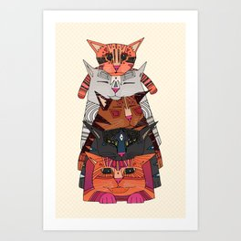 pile of cats Art Print