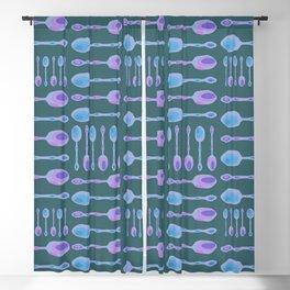 Unique Artsy Spoons! (Dark Teal) Blackout Curtain