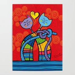 Lovers Cats Poster