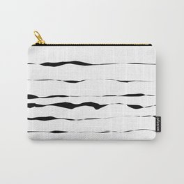 Abstract black lines Carry-All Pouch