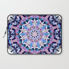 blue grey white pink purple mandala Laptop Sleeve
