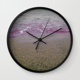 Into the Lilac Sea Wall Clock