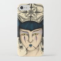 asia iPhone & iPod Cases featuring Asia by Pri Floriano