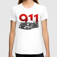 porsche T-shirts featuring Porsche 911 by Vehicle