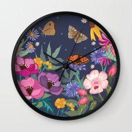 Anemones & Cornflowers Wall Clock