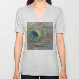Peacock Feather No.1 | Feathers | Nadia Bonello | Ottawa | Canada Unisex V-Neck