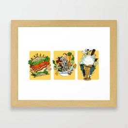 Some Fascinations in Food (BLT, Bun, Ice Cream Cone) Framed Art Print