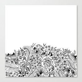 edge of the meadow Canvas Print
