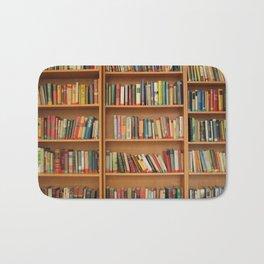 Bookshelf Books Library Bookworm Reading Bath Mat