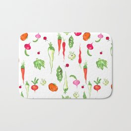 Veggie Party Pattern Bath Mat