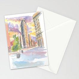 Spectacular Flatiron Sunset In New York City Stationery Cards