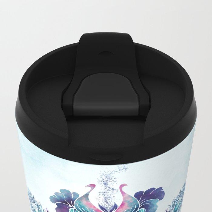 ANELIA BLUE Metal Travel Mug