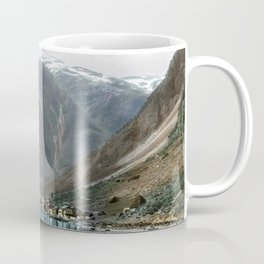 Village by the Lake & Mountains Coffee Mug