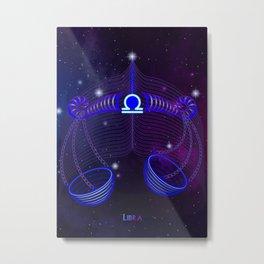Zodiac neon signs — Libra Metal Print