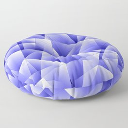 Light overlapping sheets of blue paper triangles. Floor Pillow