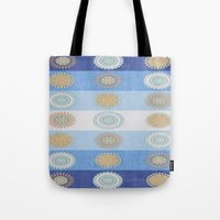 swedish Tote Bags featuring Swedish Flowers by David Andrew Sussman