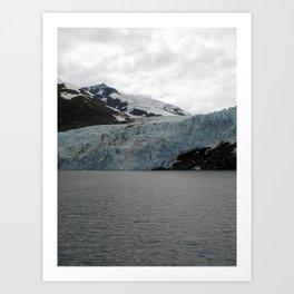 TEXTURES -- A Face of Portage Glacier Art Print