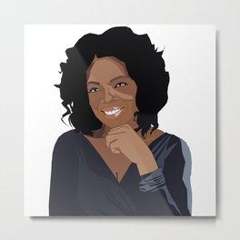 Oprah Metal Print