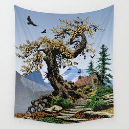 BLUE RIDGE OAK AND KOMA KULSHAN Wall Tapestry