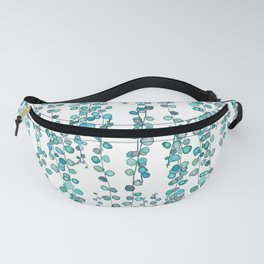 string of pearl watercolor Fanny Pack