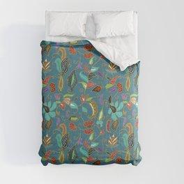 Teal Batik Comforters