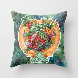 Art nouveau. Mors drink. Throw Pillow